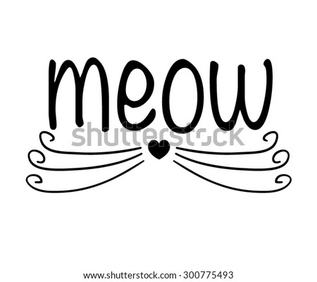 cat illustration/T-shirt Graphics/Black and white/cute cat graphic/vector cat pattern/symbolic cat - stock vector