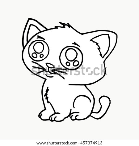 Cat on a white background. Vector illustration Cat. Cat face. Cat icon. Cat logo. Cat art. Cat print,cat graphic, cat illustration, canvas print, cat pattern, cat design, cat graphic,cat wallpaper. - stock vector