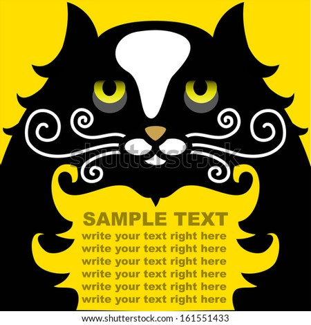 Cat template - stock vector