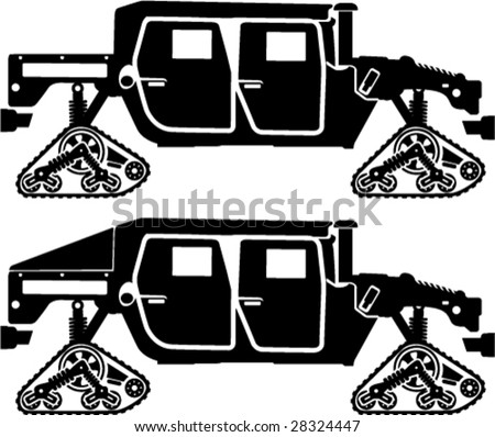 Cat.Tracks Military Hummer H1 - stock vector