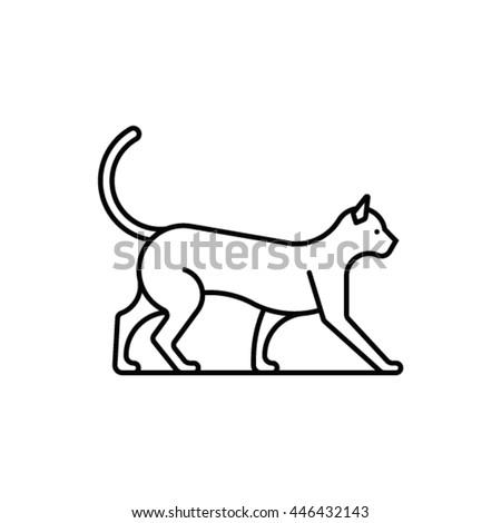 Cat, vector icon - stock vector