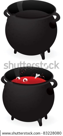 cauldron - stock vector
