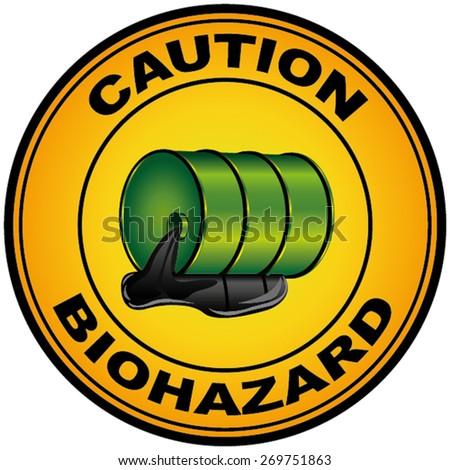 Caution Biohazard - stock vector