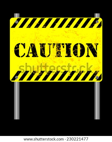 caution, sign vector - stock vector