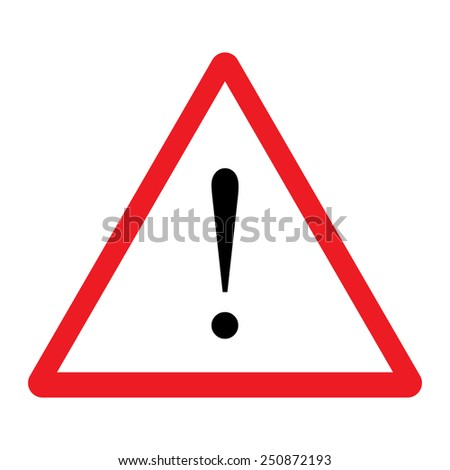 Caution sign vector - stock vector