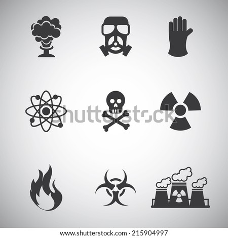 caution signal over gray  background vector illustration - stock vector