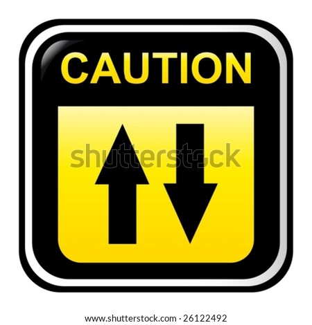 Caution - two way - stock vector
