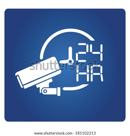 cctv on operation - stock vector