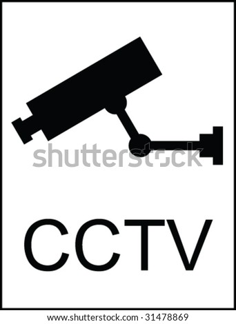 CCTV Public Information Sign - stock vector