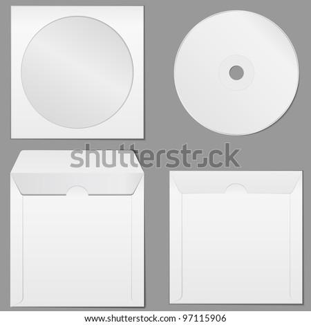 CD Case, vector eps10 illustration - stock vector