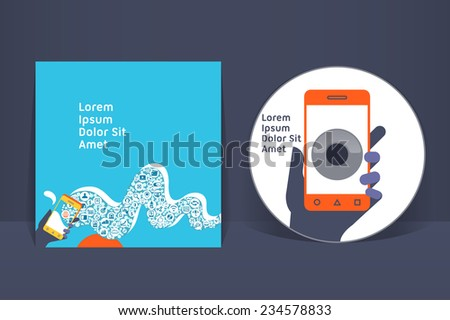CD cover design template. EPS 10 vector, transparencies used - stock vector