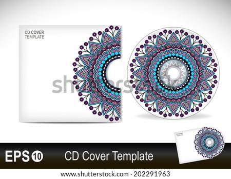 Cd cover design template.Vector illustration - stock vector