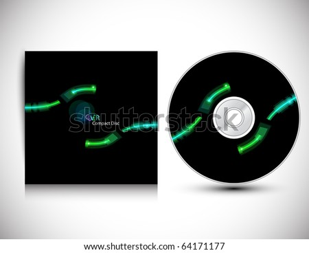 CD Cover Design Template.Vector illustration. - stock vector