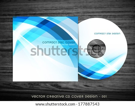 cd cover design with space for your text - stock vector