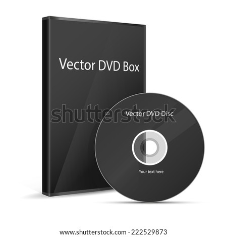 CD cover on white background - stock vector