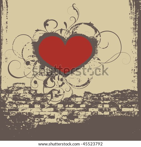 cd cover with heart, vector - stock vector