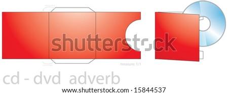 CD/DVD envelope, CD/DVD box - stock vector