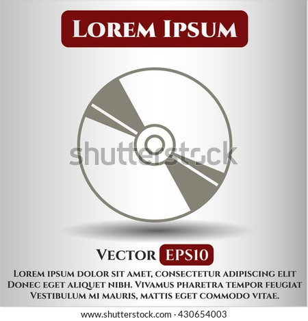 CD or DVD disc icon or symbol - stock vector