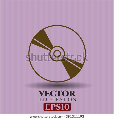 CD or DVD disc vector icon or symbol - stock vector