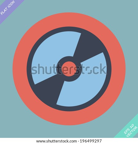 CD or DVD icon - vector illustration. Flat design element - stock vector