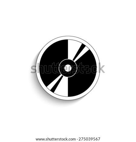 CD or DVD - vector icon - stock vector