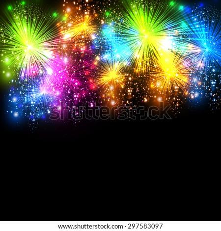 Celebration background, easy all editable - stock vector