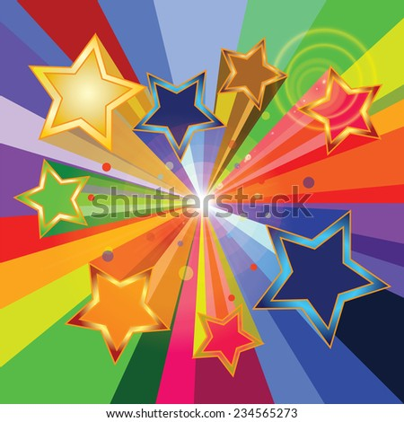 Celebration background with stars - stock vector