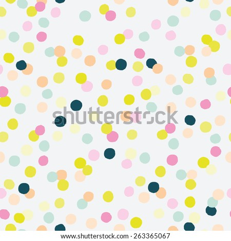 Celebration confetti seamless pattern. Colorful confetti texture for party design. - stock vector