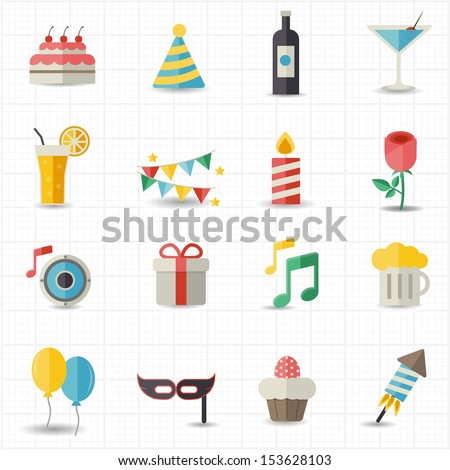 Celebration icons - stock vector