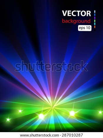 Celebration stage party background easy all editable - stock vector