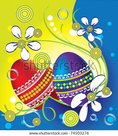 Celebratory Easter eggs by Easter - stock vector