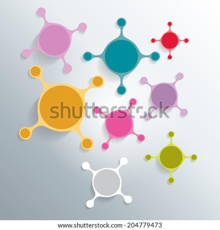Cell art background. Vector. - stock vector