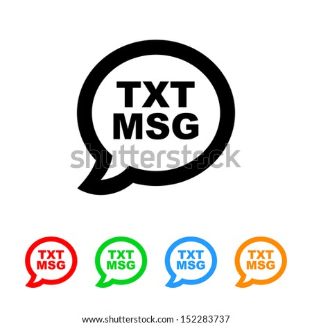 Cell Phone Text Message Icon - stock vector