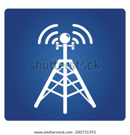 cell site sign, telecommunications radio tower  - stock vector