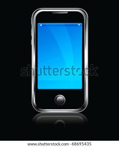 Cell Smart Phone All elements are grouped and on individual layers in the vector file for easy use. - stock vector