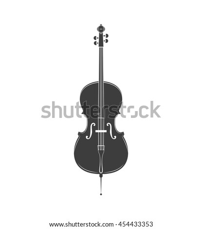 Cello. Classical musical instrument. Music icon. Vector illustration. - stock vector