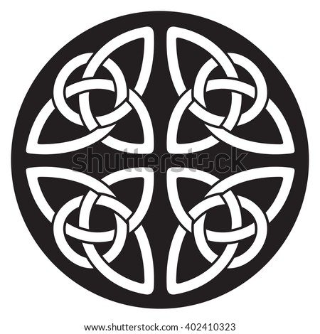 Celtic national ornament in the shape of a circle. - stock vector