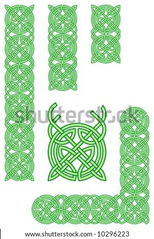 Celtic ornament elements - stock vector