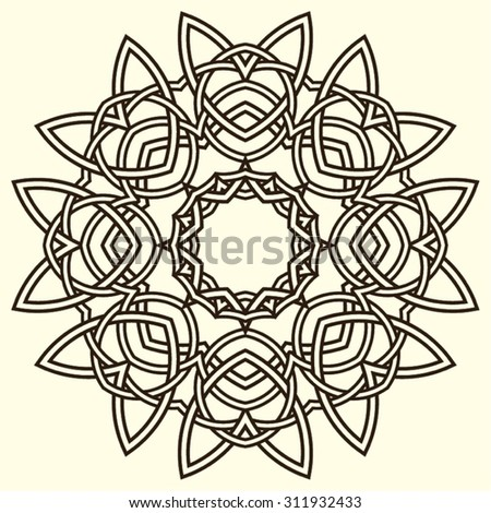 Celtic Ornament Intertwined pattern illustration, Celtic Design Element, celtic patterns and celtic ornament, Celtic knots - stock vector