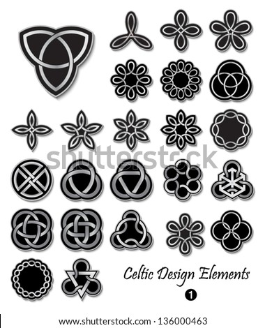 Celtic ornaments and embellishments for design and decoration. Useful for badges, t-shirts, tattoo, and many more creative uses. - stock vector