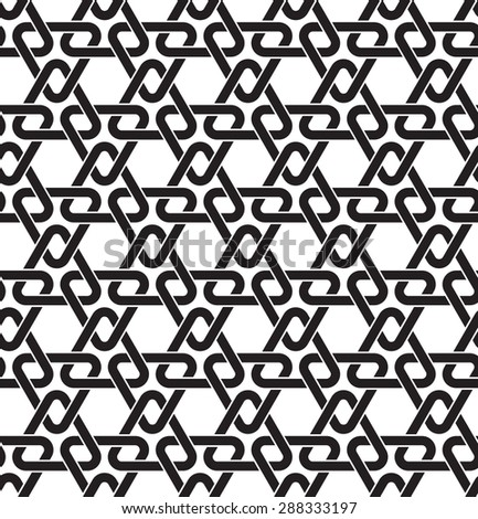 Celtic seamless pattern with swatch for filling. Fashion geometric background of links of chain armor. - stock vector
