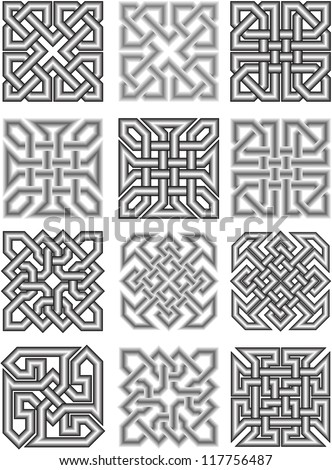 Celtic traditional medieval ornaments in a vector - stock vector