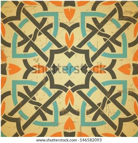 Celtic traditional ornament, irish / Scottish seamless pattern, tile design, vector illustration - stock vector
