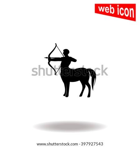 Centaur icon. - stock vector