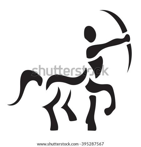 Centaur vector logo design template - stock vector