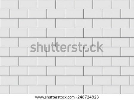 ceramic brick tile wall  - stock vector