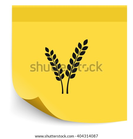 Cereal icon. - stock vector