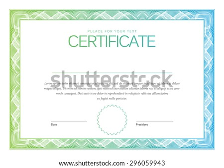 Certificate. Award background. Gift voucher. Template diplomas, currency. Vector - stock vector