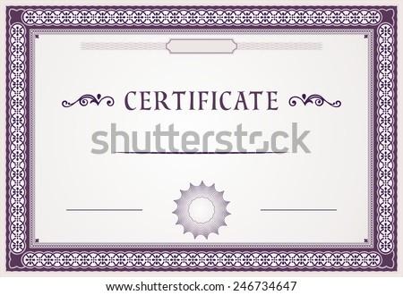 Certificate design - stock vector