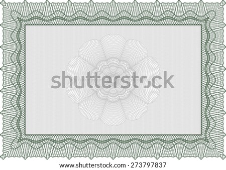 Certificate, Diploma of completion with guilloche pattern and background, border, frame. Certificate of Achievement, Certificate of education, awards, winner. - stock vector